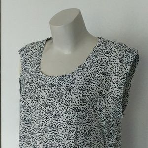 Dotted animal print top
